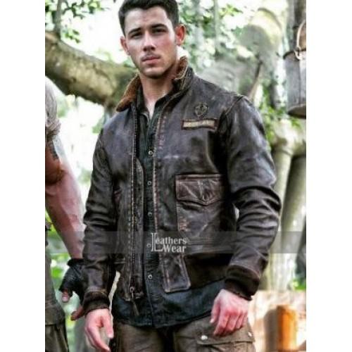 Jumanji 2 Jungle Nick Jonas (Alex) Leather Jacket