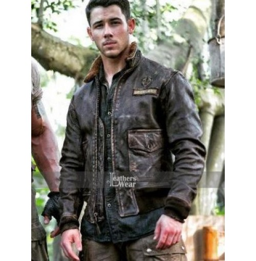 Jumanji 2 Jungle Nick Jonas (Alex) Leather Jacket