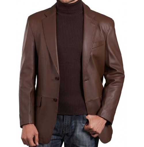 Inferno Classic Brown Leather Jacket