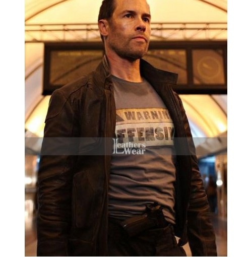 Lockout Guy Pearce (Snow) Distressed Brown Jacket