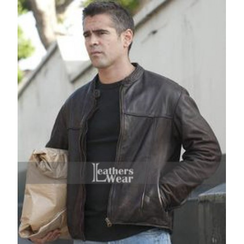 London Boulevard Colin Farrell (Mitchel) Brown Jacket