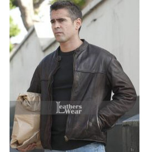 London Boulevard Colin Farrell (Mitchel) Brown Jacket