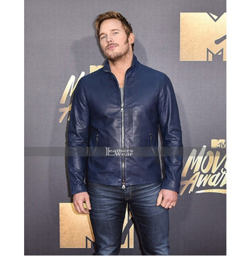 Chris Pratt 2016 MTV Movie Award Leather Jacket