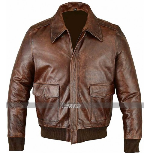 Men's A-2 Flight Bomber Brown Jacket