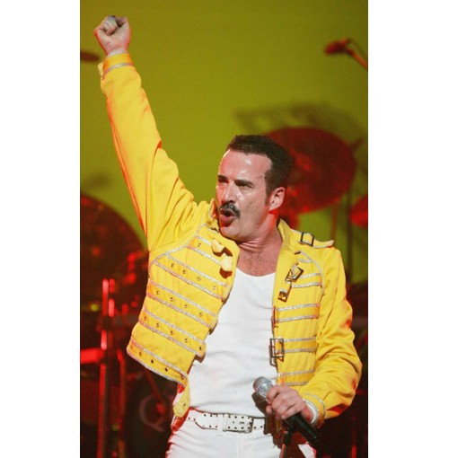 Replica Freddie Mercury Wembley Concert Yellow Jacket Costume