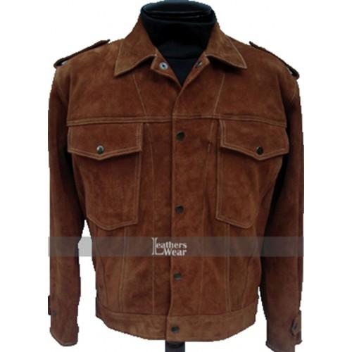 Rubber Soul Beatles John Lennon Brown Suede Leather Jacket