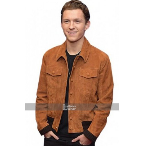 Spiderman Homecoming Tom Holland Brown Jacket