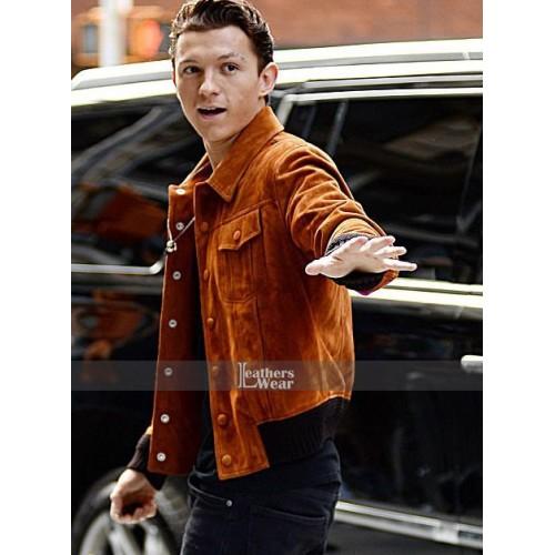 spiderman homecoming tom holland brown jacket