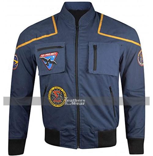 Star Trek Enterprise Scott Bakula (Jonathan Archer) Flight Blue Suit Jacket