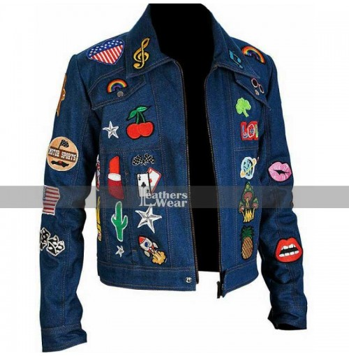 Taron Egerton Rocketman Elton John Denim Jacket with Patches