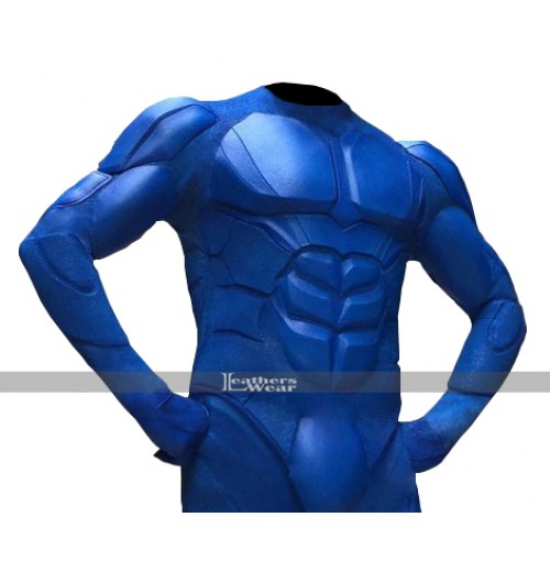 The Tick Peter Serafinowicz Blue Leather Costume