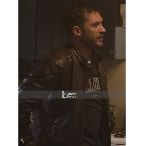 Eddie Brock Venom Tom Hardy Distressed Leather Jacket