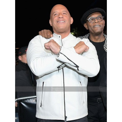 Vin Diesel xXx LA Premiere Paramount White Leather Jacket