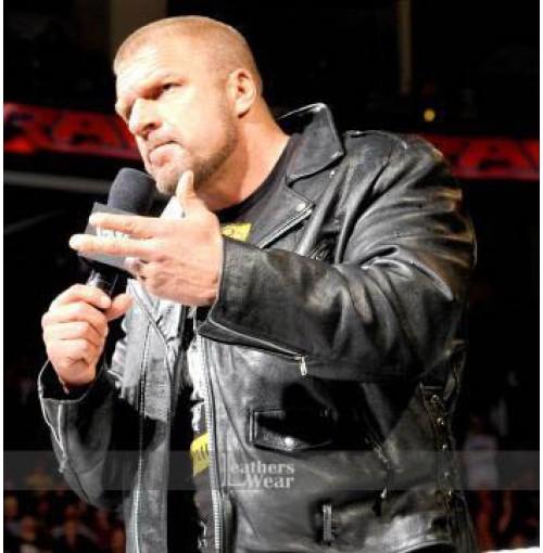 Paul Michael Levesque Triple H WWE Moto Jacket