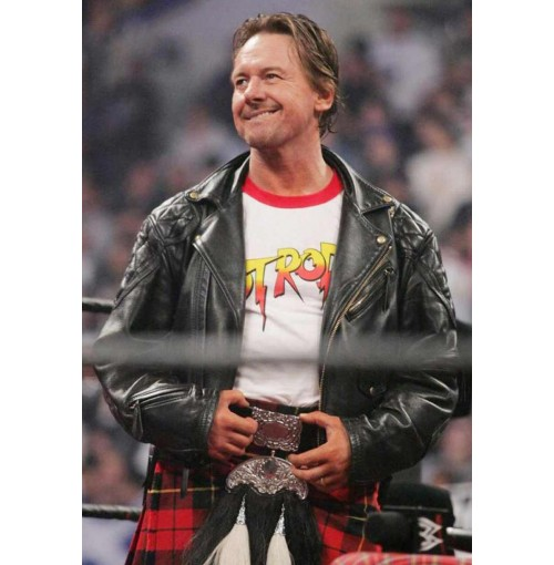 WWE Wrestler Roddy Piper Leather Jacket