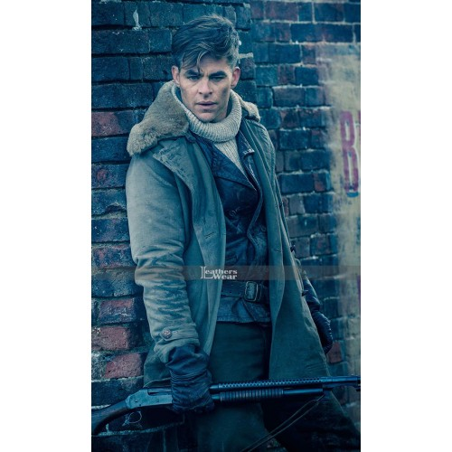 Wonder Woman Chris Pine (Steve Trevor) Fur Collar Jacket Coat