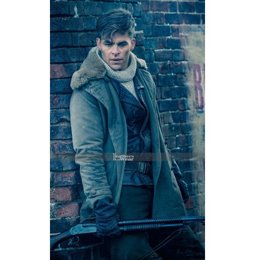 Wonder Woman Chris Pine (Steve Trevor) Fur Collar Jacket Coat