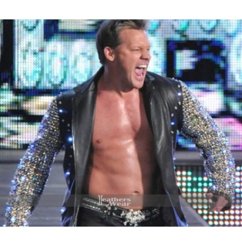 Chris Jericho Light Up Style Leather Jacket