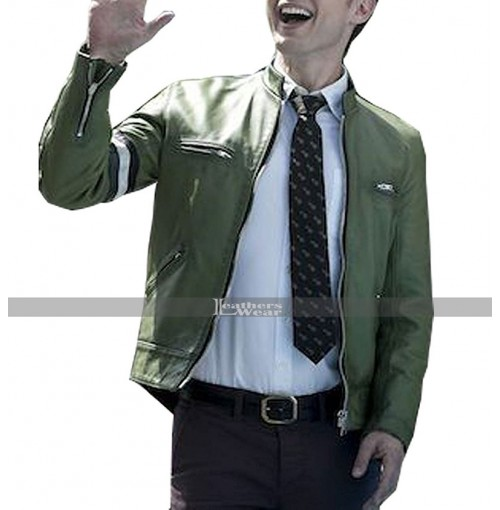 Dirk Gently Holistic Detective Agency Green Leather Jacket