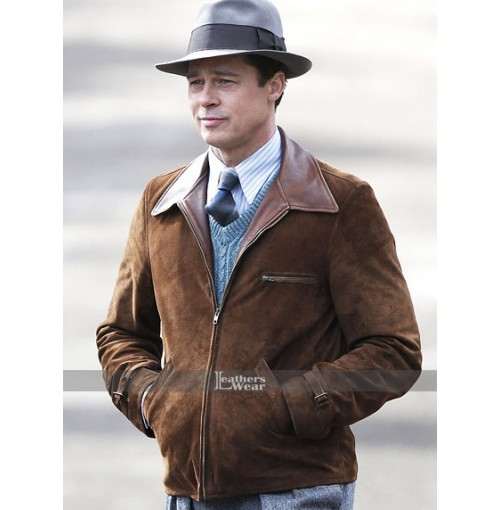 Brad Pitt Allied Max Vatan Brown Jacket
