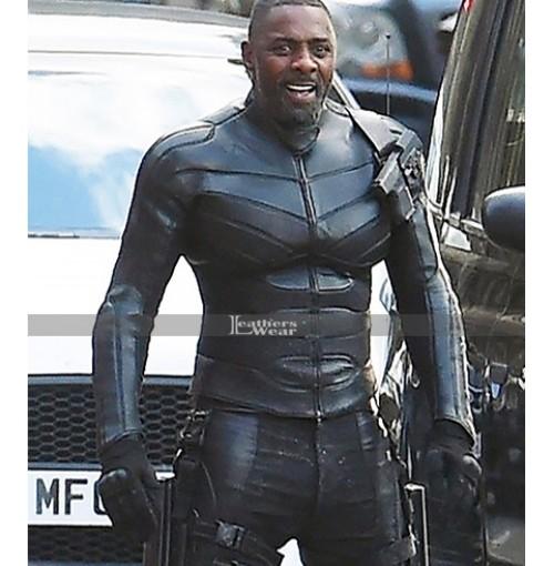 Fast & Furious Hobbs & Shaw Idris Elba (Brixton) Black Leather Jacket