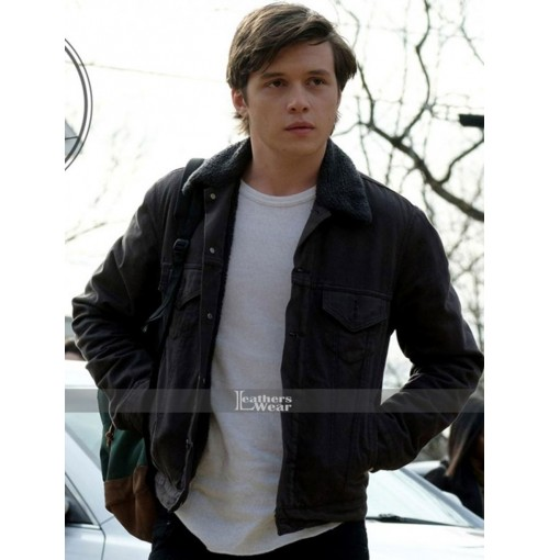 Love, Simon Nick Robinson Black Fur Collar Jacket