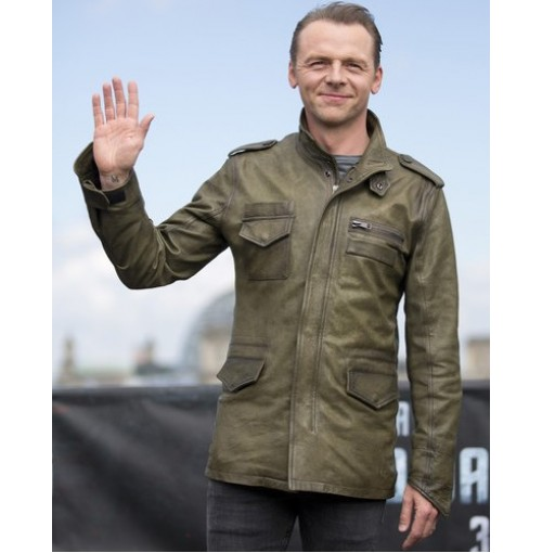 Simon Pegg Star Trek Beyond 3 Green Jacket