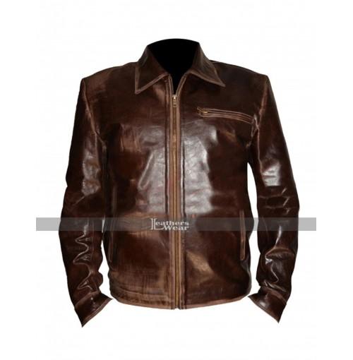 Surrogates Bruce Willis (Tom Greer) Brown Leather Jacket