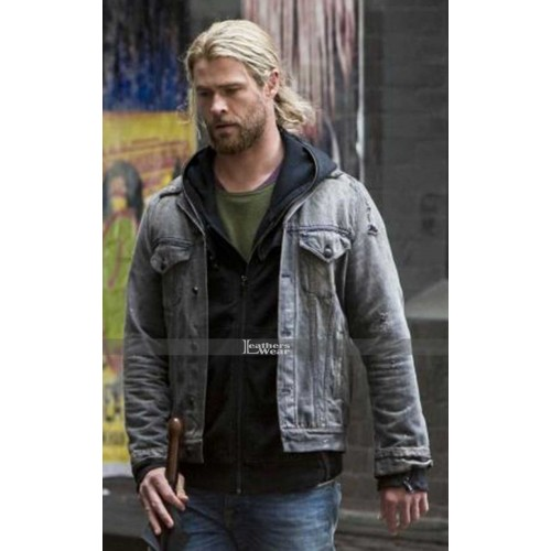 4525a116309 Thor Ragnarok Chris Hemsworth Denim Jacket