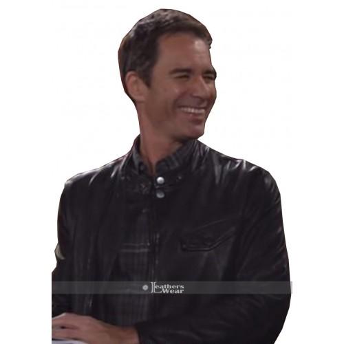 Will & Grace Eric McCormack Black Motorcycle jacket