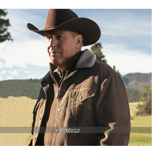 John Dutton Yellowstone Fur Collar Jacket