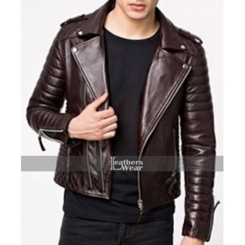 70s Style Mens Brown Leather Jacket