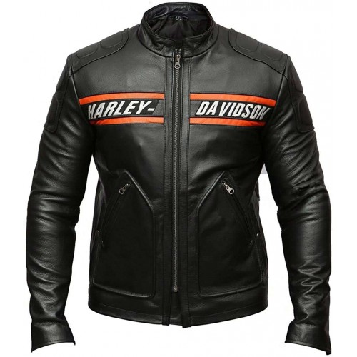 Bill Goldberg Harley Motorcycle Davidson Leather Jacket