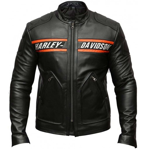 Bill Goldberg Harley Davidson Motorcycle Leather Jacket