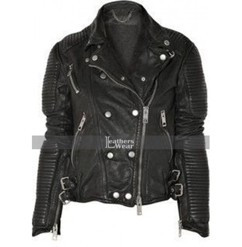 Burberry Prorsum Ali Larter Quilted Leather Jacket