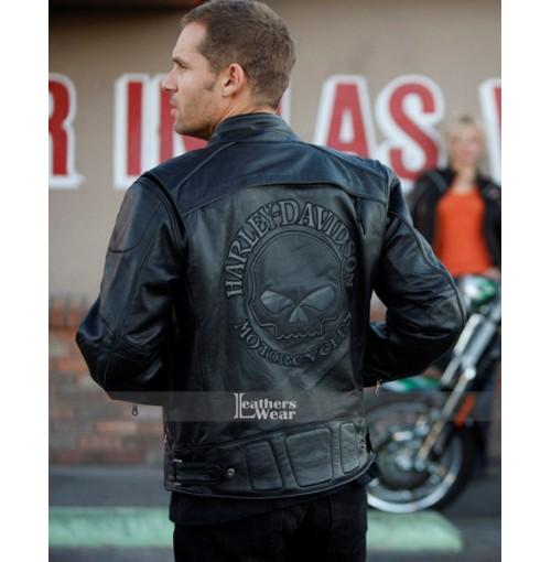 Harley Motorcycle Davidson Skull Black Jacket