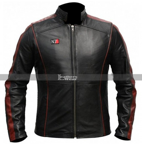 N7 3 Gaming Mass Effect Black Leather Jacket