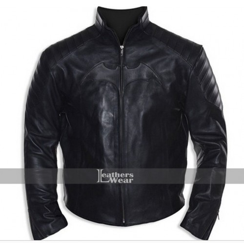 Batman Black Biker Leather Jacket