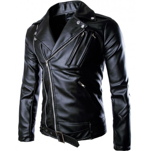 Brivio Biker Leather Jacket