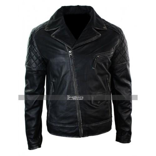 Marlon Brando Classic Motorcycle Distressed Vintage Leather Jacket