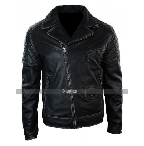Marlon Brando Classic Motorcycle Distressed Vintage Leather Jacket