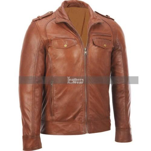 Mens Bomber Rider Slim Fit Casual Stylish Jacket