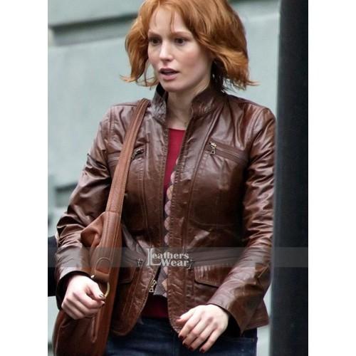 88 Minutes Alicia Witt (Kim Cummings) Brown Jacket