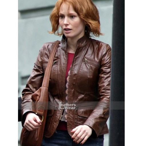 88 Minutes Alicia Witt (Kim Cummings) Brown Jacket