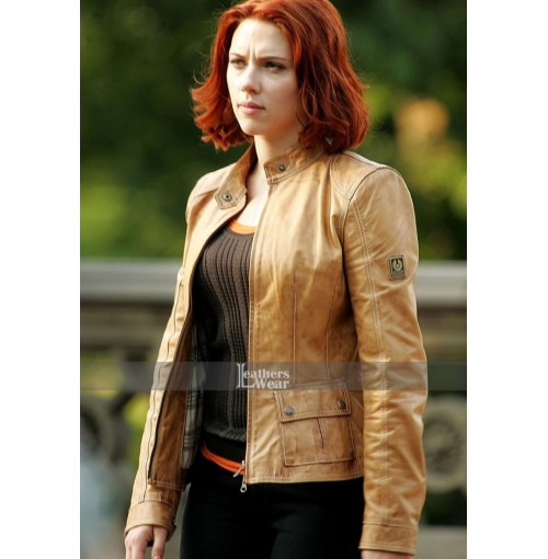 Avengers Film Scarlett Johansson (Black Widow) Jacket