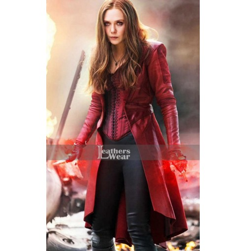 Captain America Civil War Elizabeth Olsen Red Coat