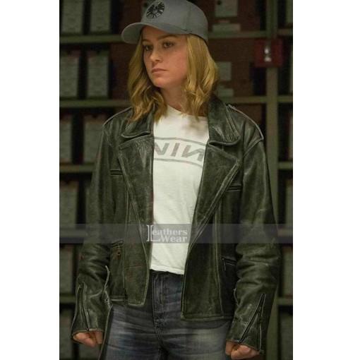 Captain Marvel Marvel Brie Black Jacket