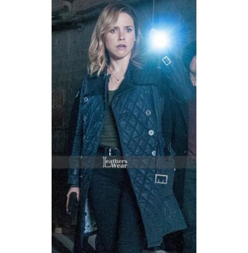 Chicago P.D Erin Lindsay Blue Leather Jacket