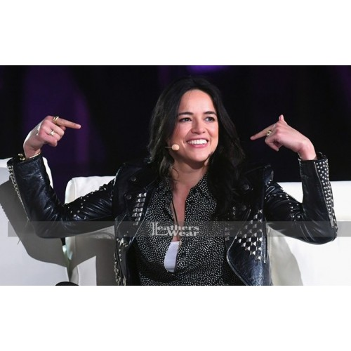 Fast /& Furious/'s Michelle Rodriguez Style Motorcycle Real Leather Jacket