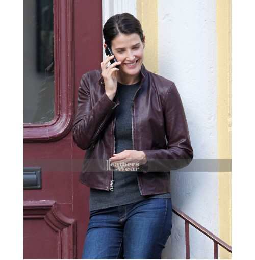Cobie Smulders Jack Reacher Never Go Back Maroon Jacket